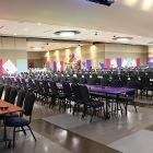 Images of long tables.