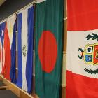 Image of international flags.