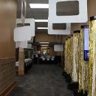 Image of decorated hallway to ballroom.