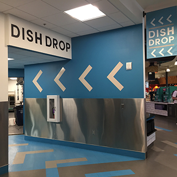 rendezvous dish drop return area