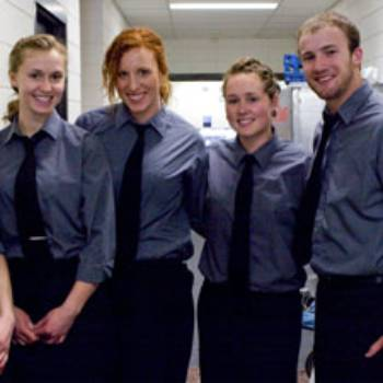 team of catering student workers