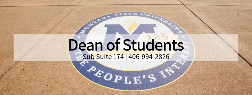 A photo of the 125th emblem on the sidewalk with the words Dean of Students in black.