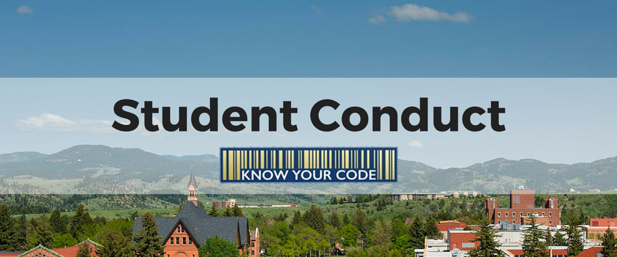 student conduct banner