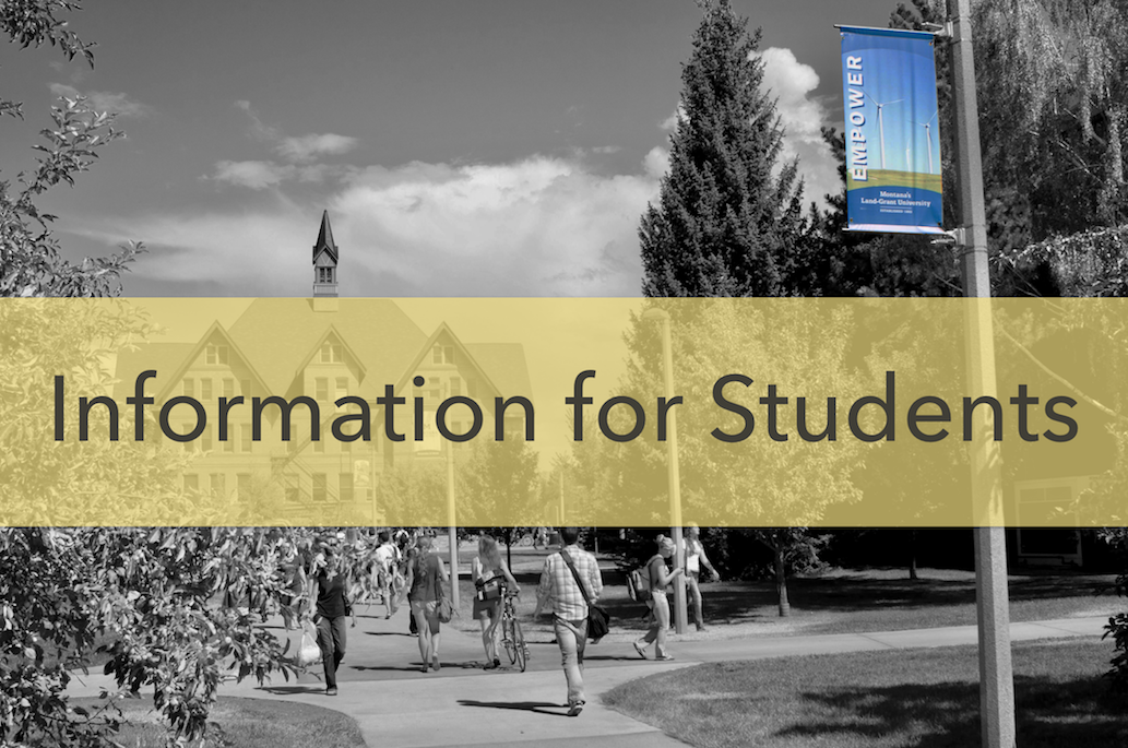Information for Students Banner