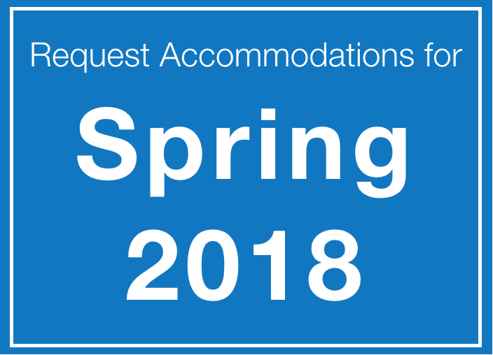 Accommodations Spring 2018
