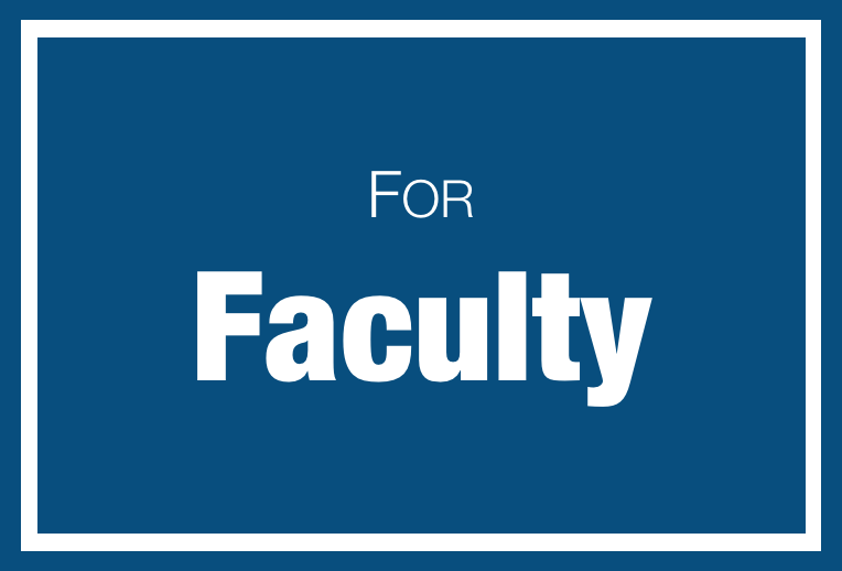 Information for Faculty