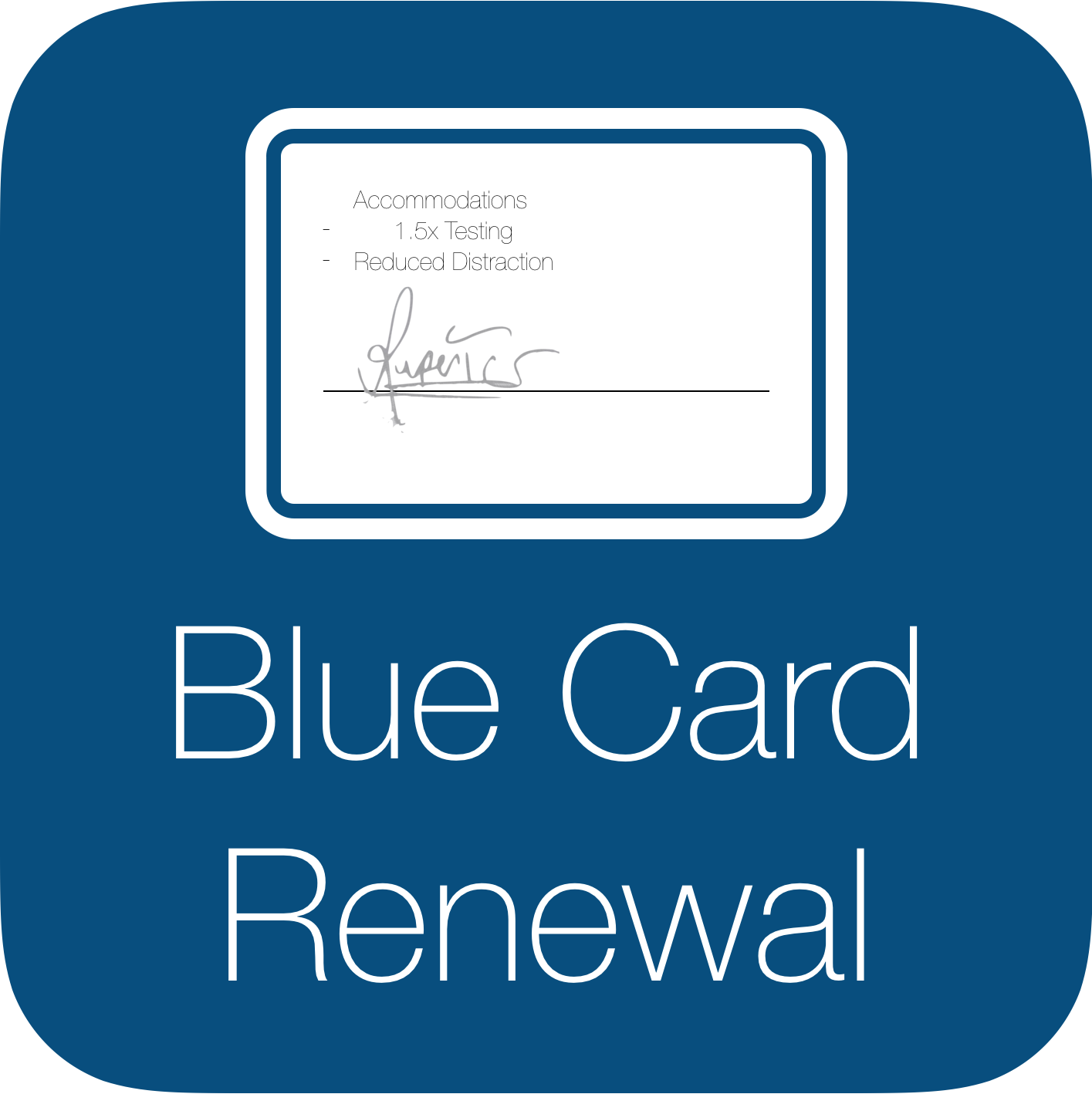 Blue Card Request Form Icon