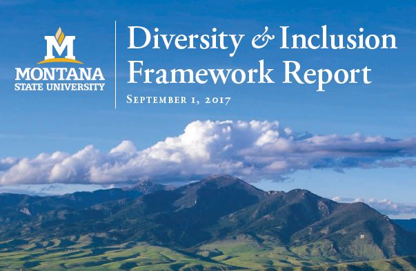 Diversity and Inclusion Framework Report, Sept 1, 2017 MSU