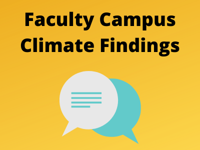 Faculty campus climate findings - gold background