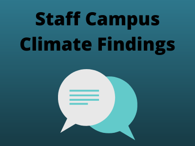 Staff campus climate findings - green background