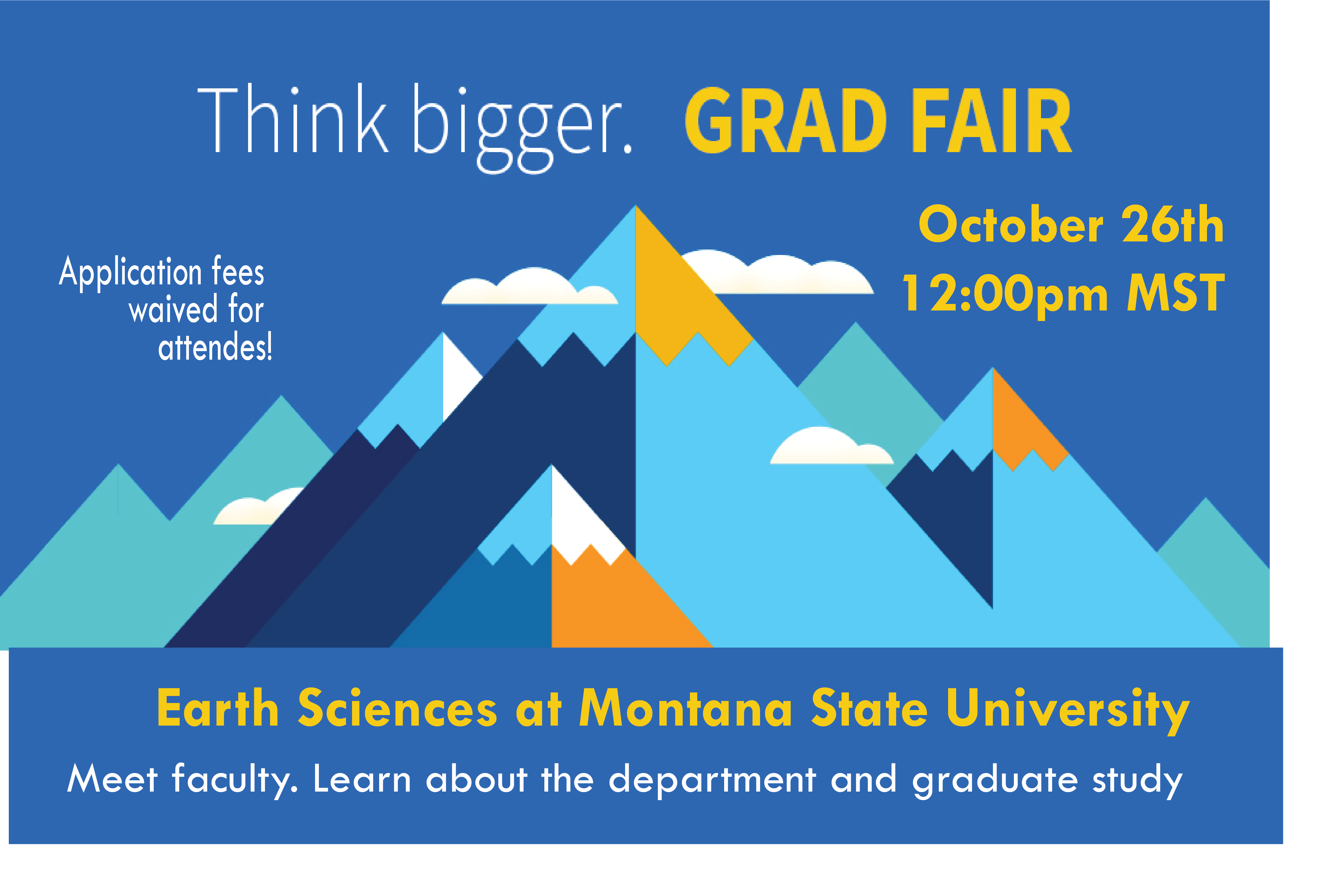 Grad Fair Flyer with image of Mountains
