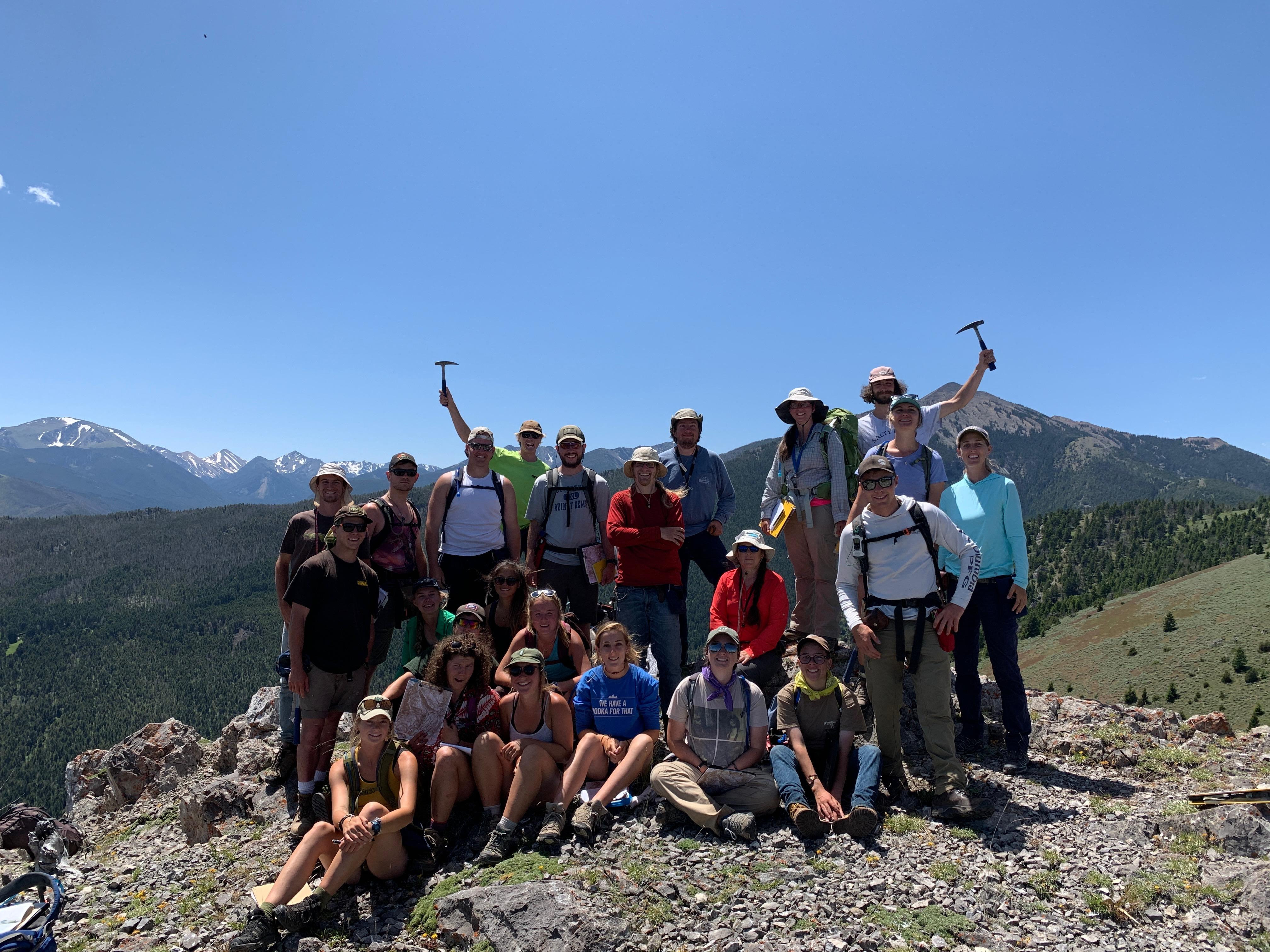Summer 2019 Field Geology class in Tobacco Root Mountains