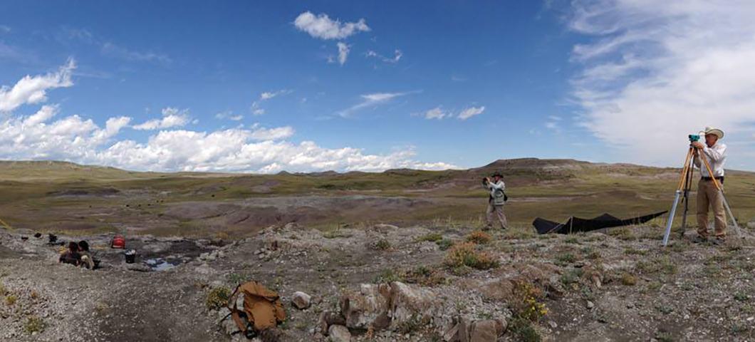 Paleontology field work