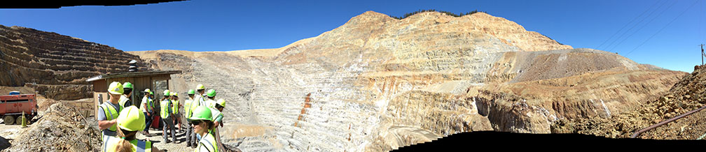 Panorame of Golden Sunlight mine pit