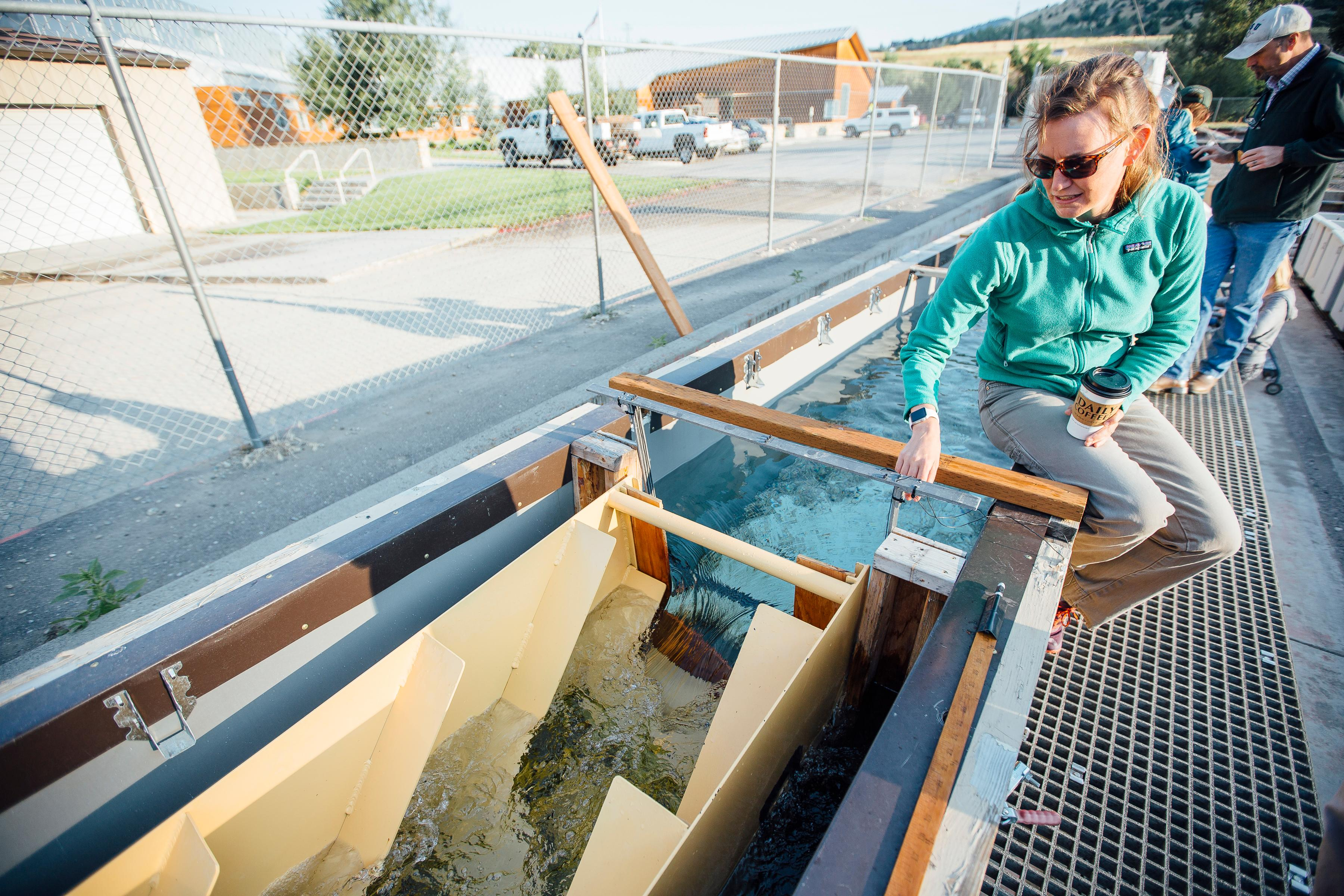 Katey and Denil Fishway at Bozeman Fish Technology Center