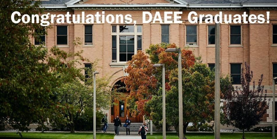 DAEE celebrates Spring 2020 graduates!