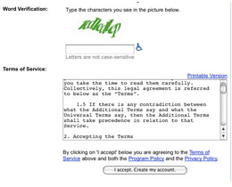 Google Account Terms of Service image