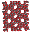 Microporous zeolite structure used for catalysis.