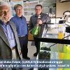 Keith Cooksey, Brent Peyton and Grad student Robert Gardner awarded patent for using bicarbonate trigger to reduce algae harvest times. (Kelly Gorham, MSU News)