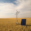 Eddy covariance station at field site in north central Montana
