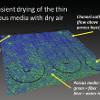 Synchrotron measurement of water in a fuel cell Gas Diffusion Layer (R. Anderson lab).