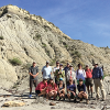 MSU students on a tour of Eastern Montana energy communities and infrastructure visit Makoshika State Park (J. Haggerty group).