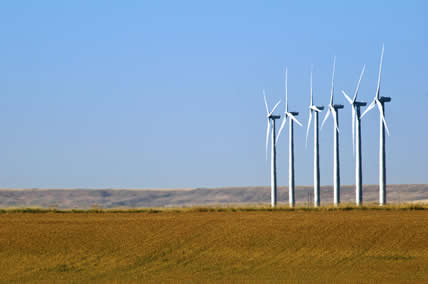 Wind turbines in Montana