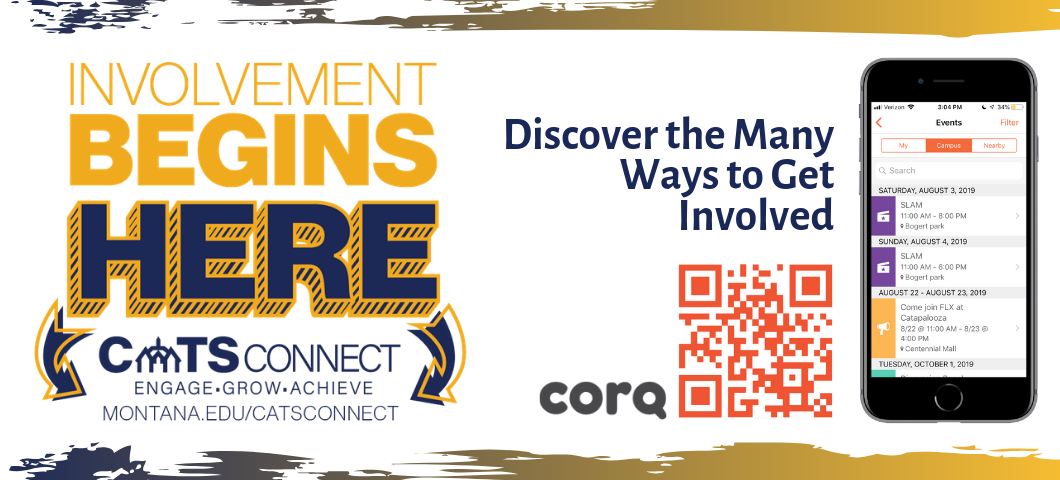 Involvement Begins Here! CatsConnect. Discover the Many Ways to Get Involved through the corq app.