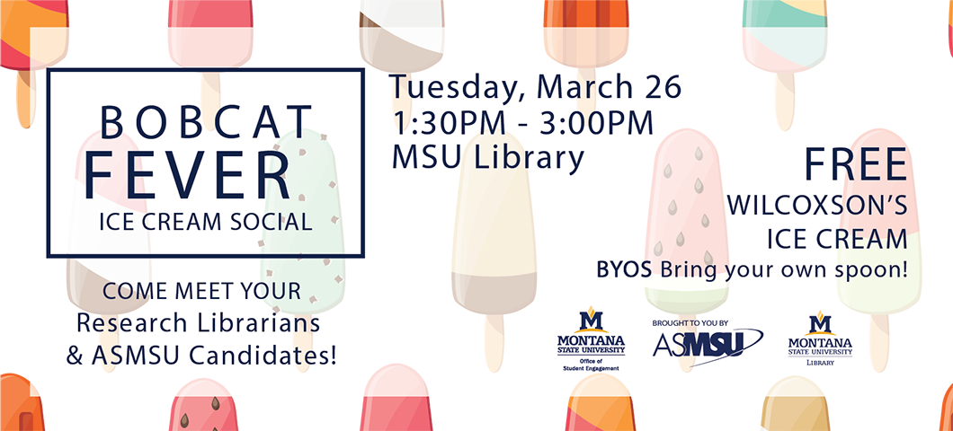 Tuesday march 26 1-3pm in the library free ice cream. meet your asmsu candidates