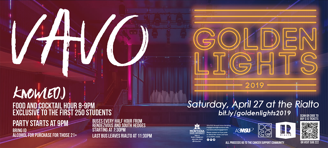golden lights April 27th at the Rialto. click image for event details and link to tickets. $12 for students only. Vavo and Knowledj.