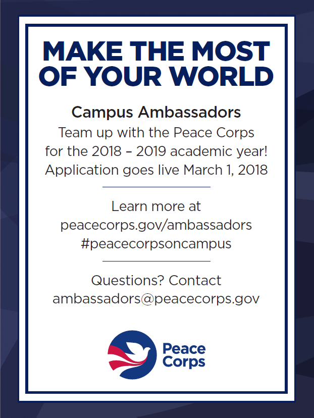 Image result for peace corps campus ambassador