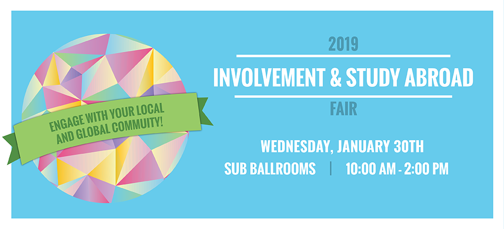 involvement fair january 30th 10am-2pm sub ballrooms