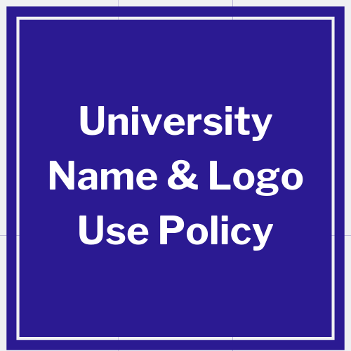 link to university name and logo use policy