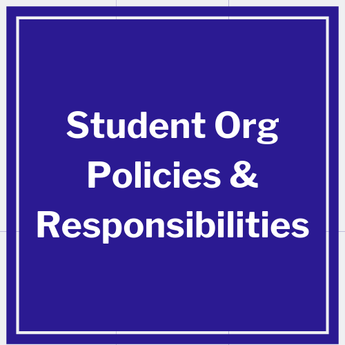 link to student organization policies