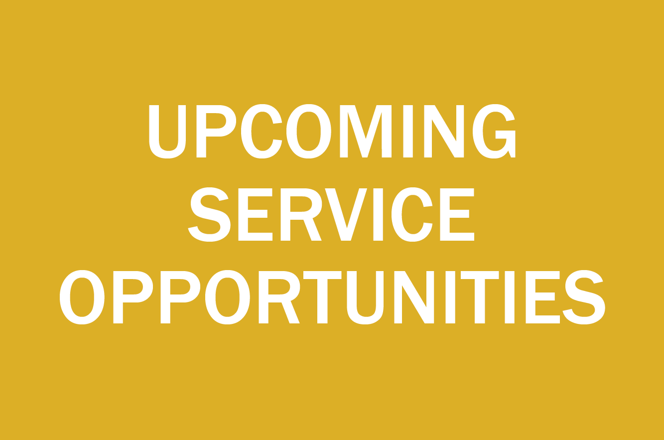 upcoming service opportunities button