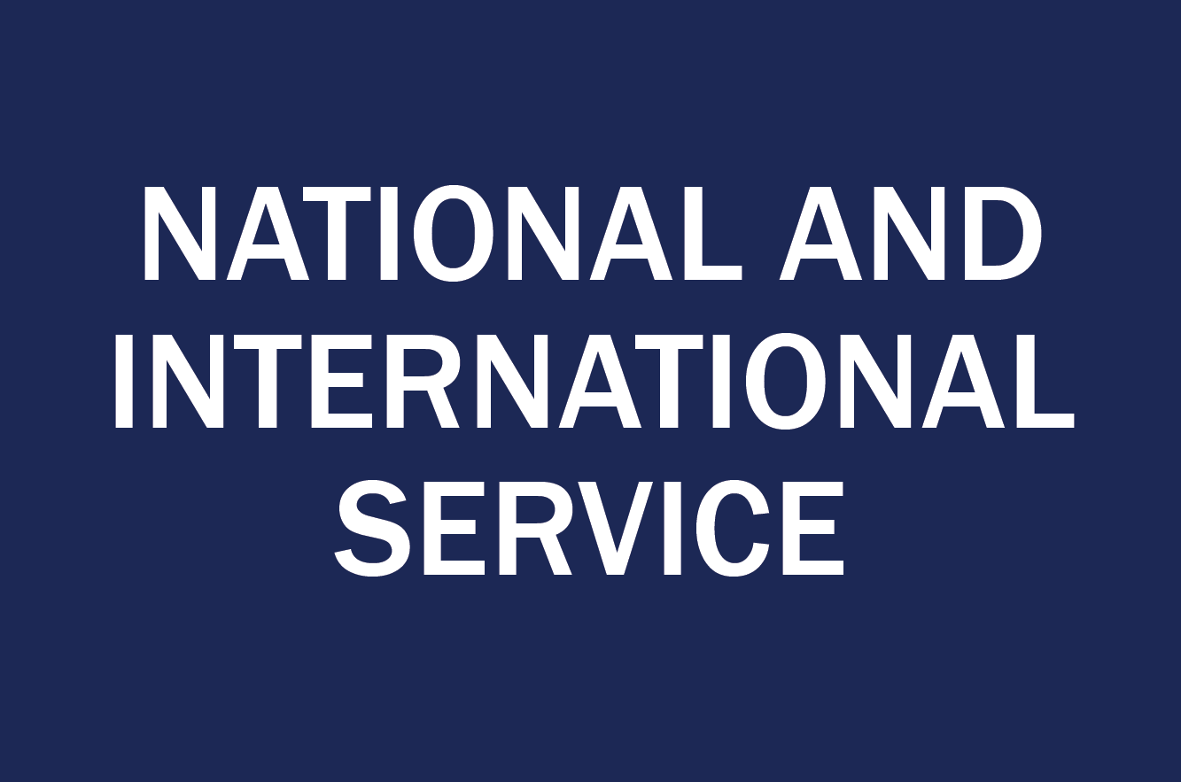 national and international service opportunities