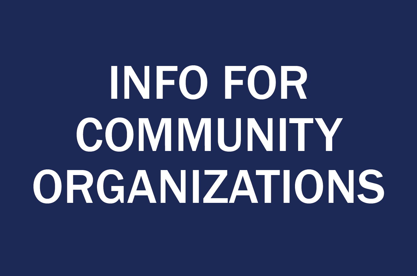 info for community organizations button