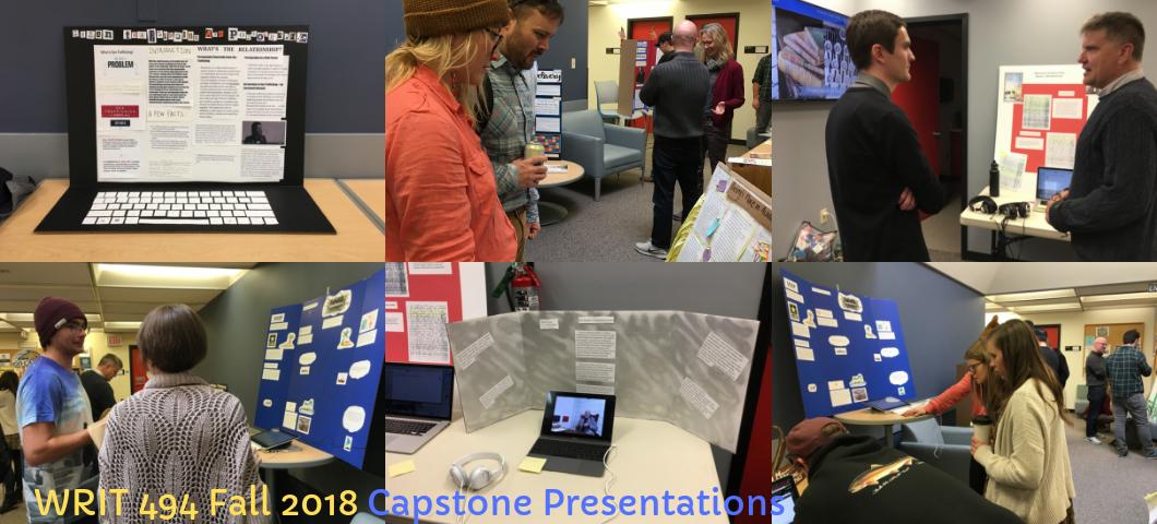 WRIT 494 Fall 2018 Capstone Presentations