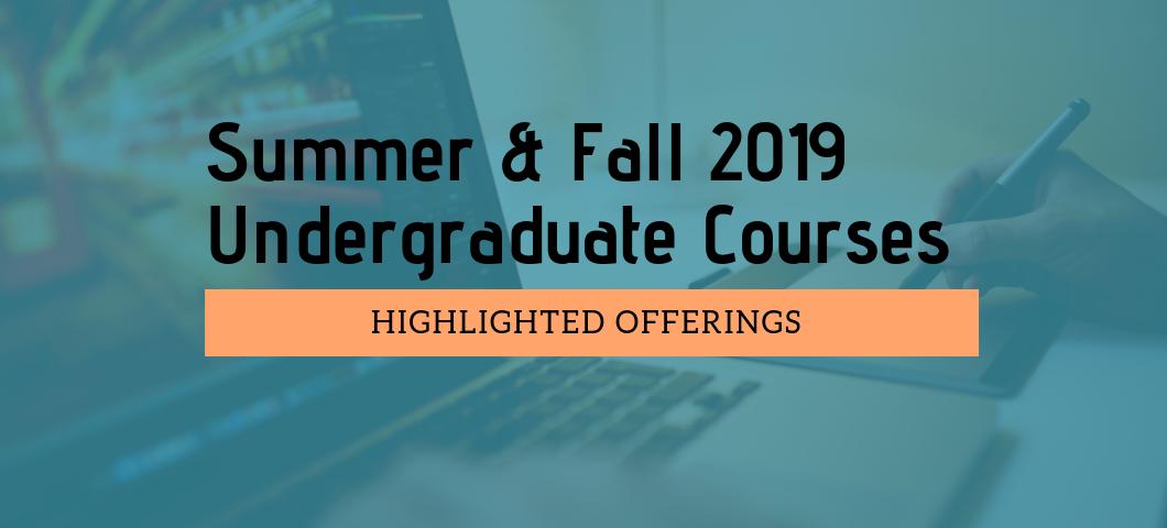 Highlighted Summer & Fall Undergrad Co