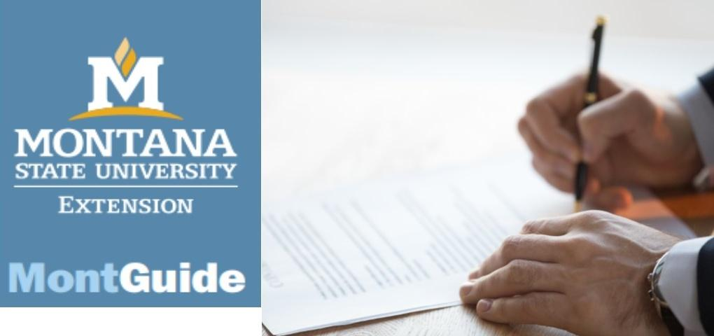 New MontGuide:  Transfer on Death Deeds in Montana