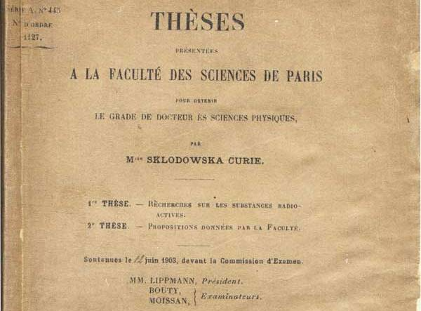 Marie Curie Thesis