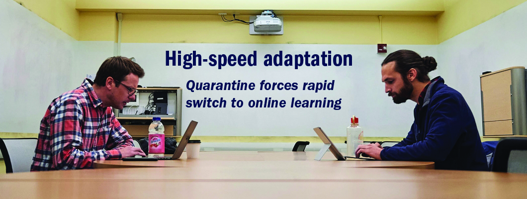 High-speed adaptation: Quarantine forces rapid switch to online learning