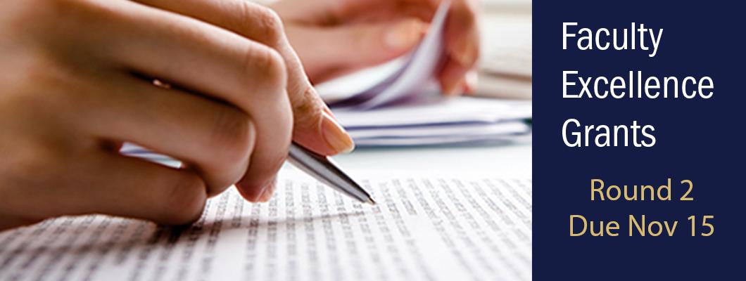 Faculty Excellence Grants due Nov 15th