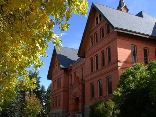 Montana Hall on the Montana State University campus in Bozeman