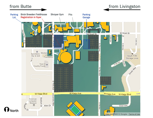 campus map-Fieldhouse area