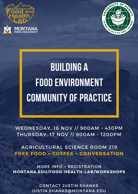 Building a Food Environment Community of Practice workshop flyer