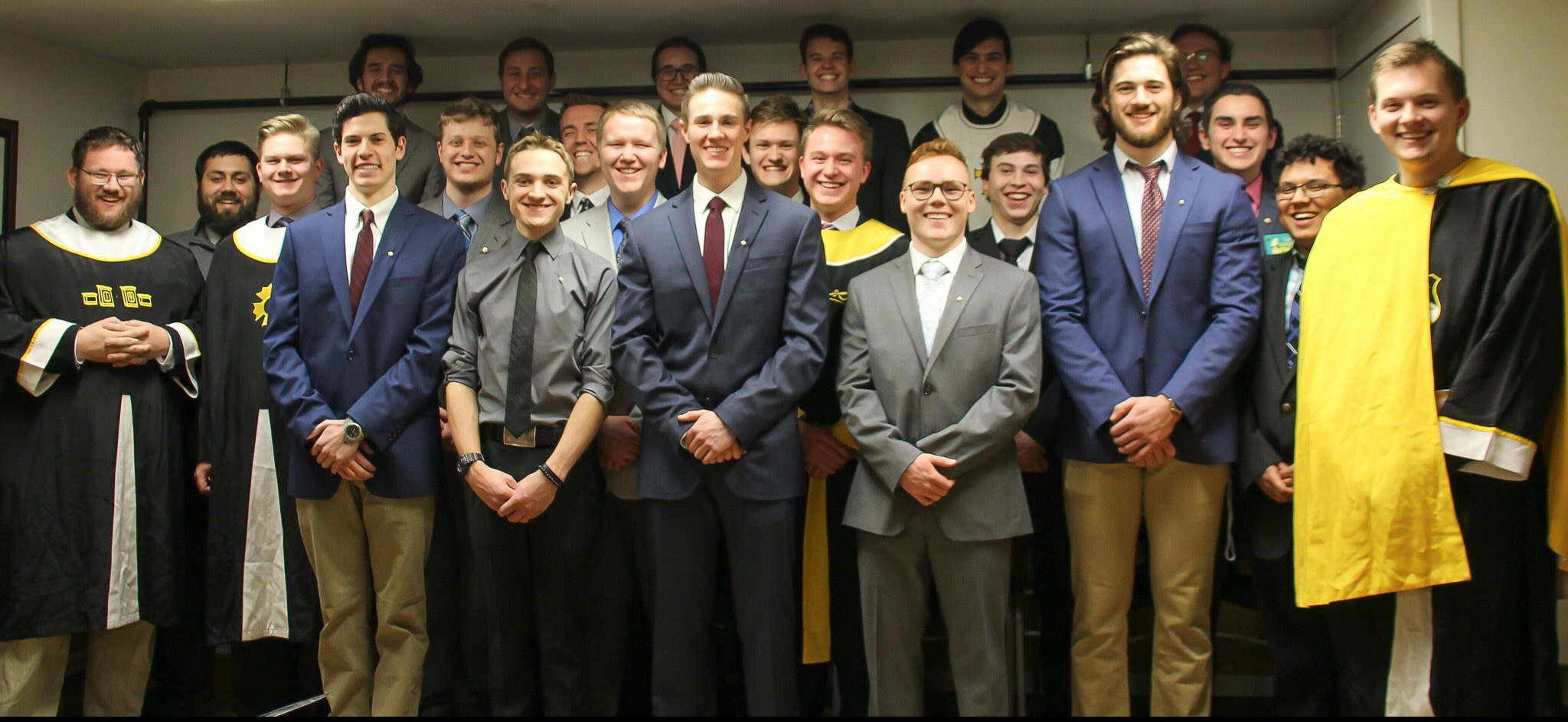 Sigma Nu brothers in the spring of 2020