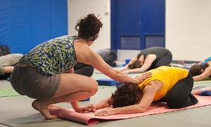 Yoga in Studio 3, the Martial Arts area