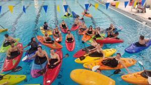 Kayaking at the HFC pool