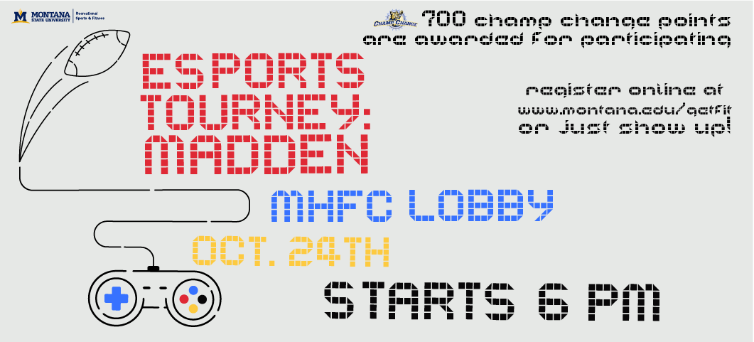October 24, 2019, Fitness Center Lobby @ 6 pm. Register online or just show up.  700 Champ Change points.